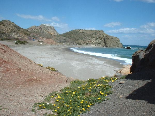 secluded bay south of  Mojacar Playa