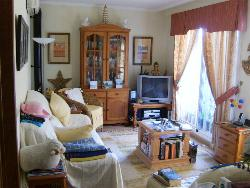 Living room of 3 bedroom duplex for sale, Vera Playa naturist zone